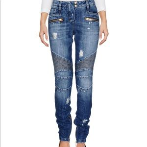 BALMAIN biker authentic jeans